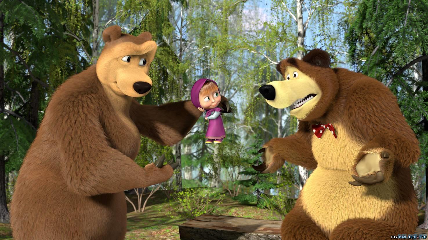 «маша и медведь» признан самым опасным мультфильмом для детей