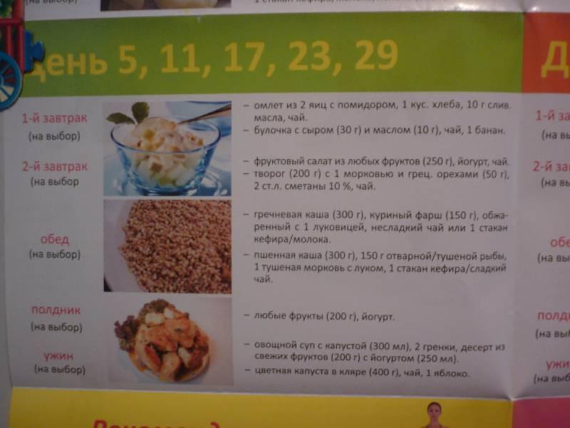Диета кормящей мамы: примерное меню на каждый день