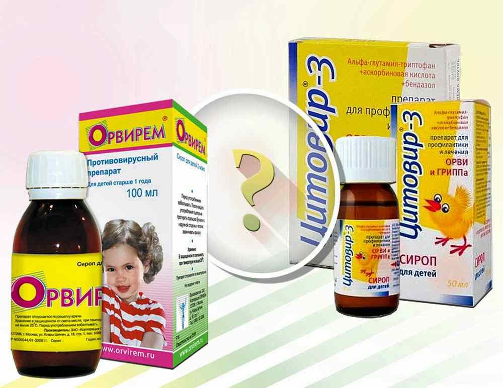 Противовирусные сиропы для детей
