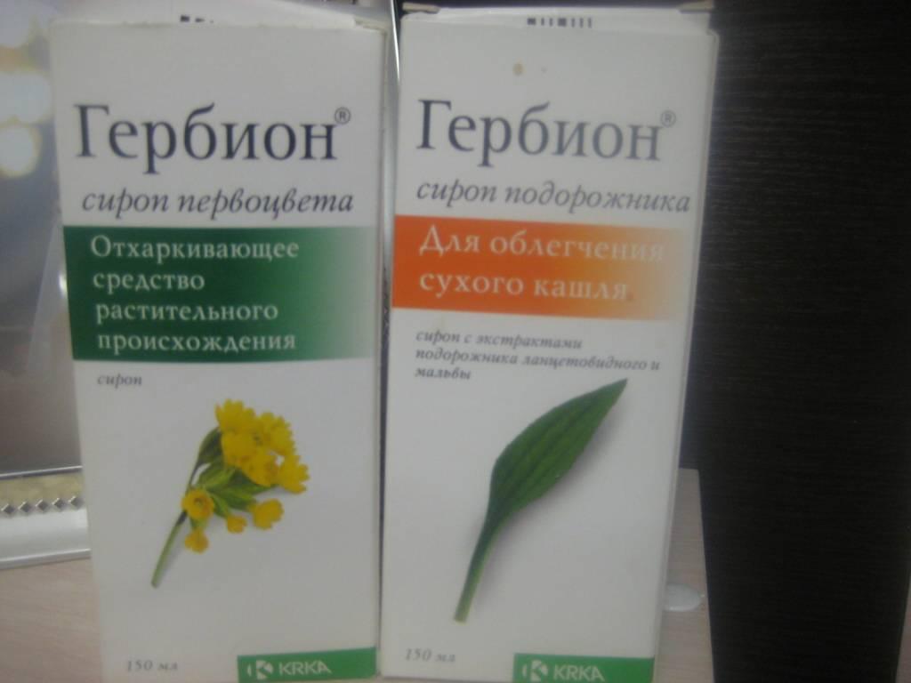 Сироп гербион от сухого и влажного кашля: инструкция по применению кашля