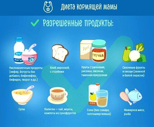 Список продуктов кормящей маме (что можно кушать, что кушать не рекомендуется в период гв)