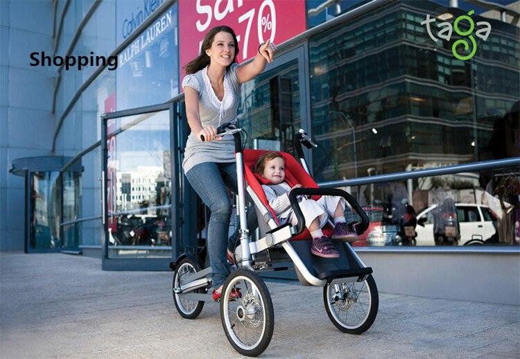 Коляска-велосипед – уникальный велотрансформер taga bike stroller для активных родителей. велосипед детская коляска трансформер