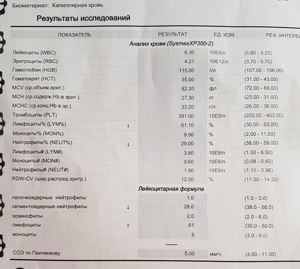 Сегментоядерные нейтрофилы у ребенка: пониженные и повышенные у малышей в возрасте 2, 3 лет и не только, причины увеличения и уменьшения количества в крови, норма