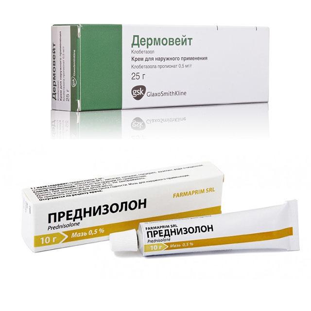Негормональные и гормональные мази от дерматита: список