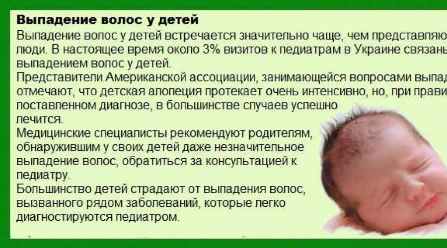У ребенка выпадают волосы: причины выпадения у детей, почему лезут клоками на голове, что делать, лечение у девочки 7 лет или 4 месяцев