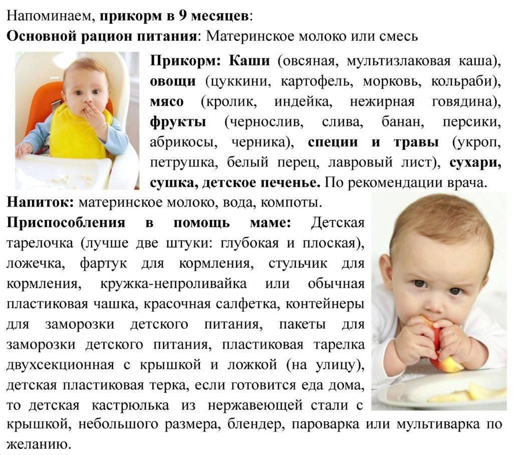 Ребенок в 9 месяцев: развитие, питание, игры, проблемы