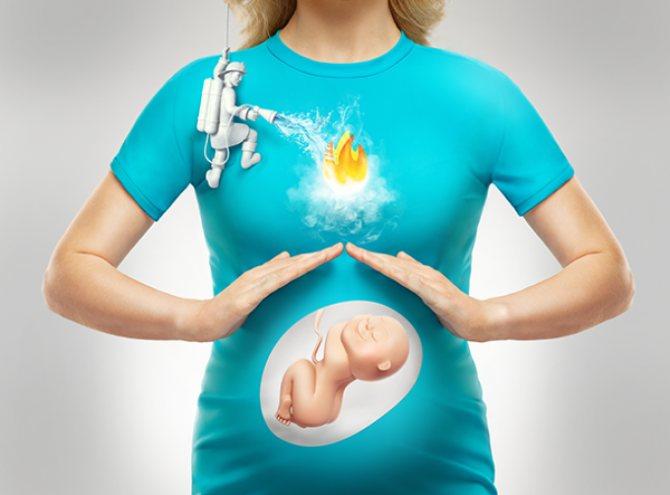 Изжога на поздних сроках беременности: причины, способы облегчения состояния, домашние и лекарственные средства от изжоги