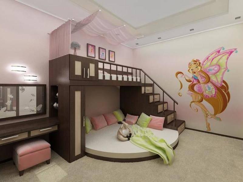 Зонирование комнаты родителей и ребенка вместе - новые интересные идеи