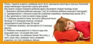 Что делать, если у ребенка рвота без температуры и поноса