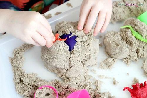 Кинетический песок своими руками в домашних условиях: как сделать, рецепты