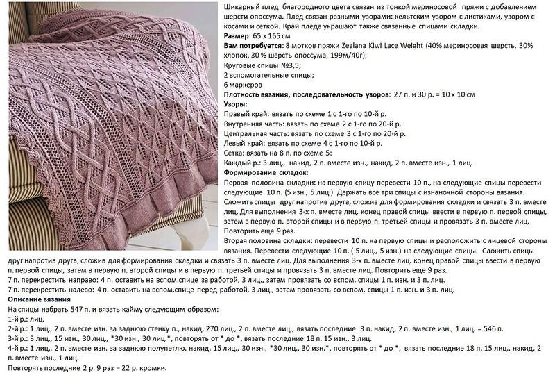 Схемы вязания пледов для новорожденных детей