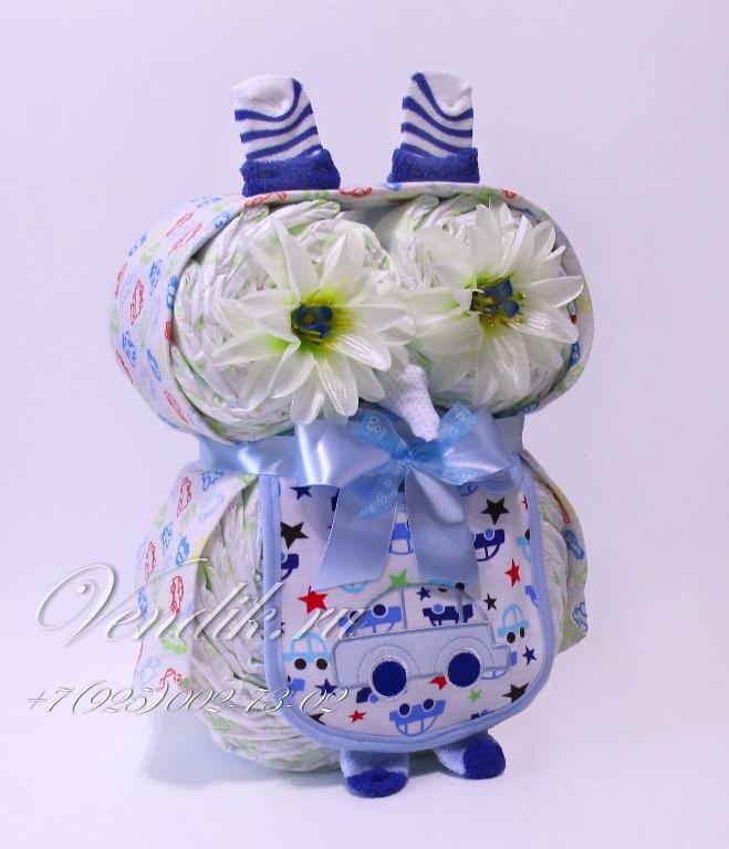 Торт из памперсов: пошаговая инструкция как сделать и украсить оригинальный подарок для детей (100 фото)