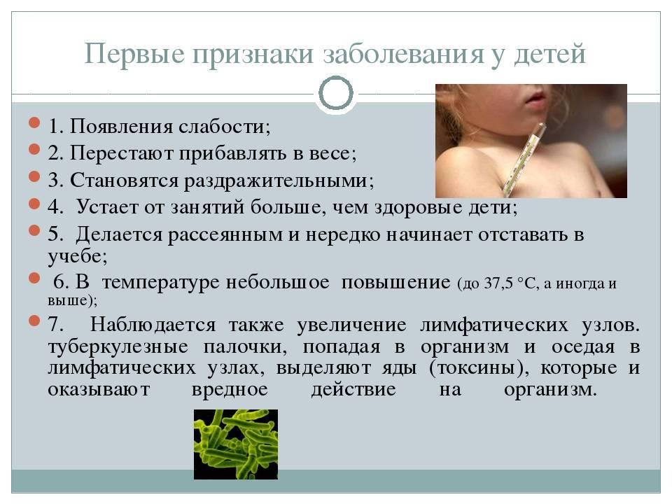 Туберкулез легких у детей и подростков: первые признаки, симптомы, диагностика, лечение