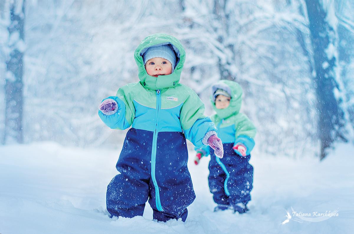 Особенности прогулки с ребенком зимой