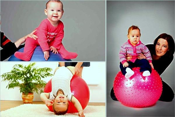 Занятия на фитболе с грудничком 3 месяца и старше – 10 упражнений: фото, видео