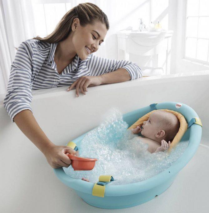 Ванночка для новорожденного | уроки для мам