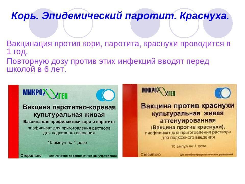 Прививка корь-краснуха-паротит:  график вакцинации, виды вакцин, противопоказания