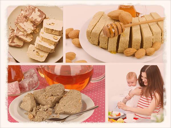 Халва кормящим матерям - можно ли в первый месяц (подсолнечную)?