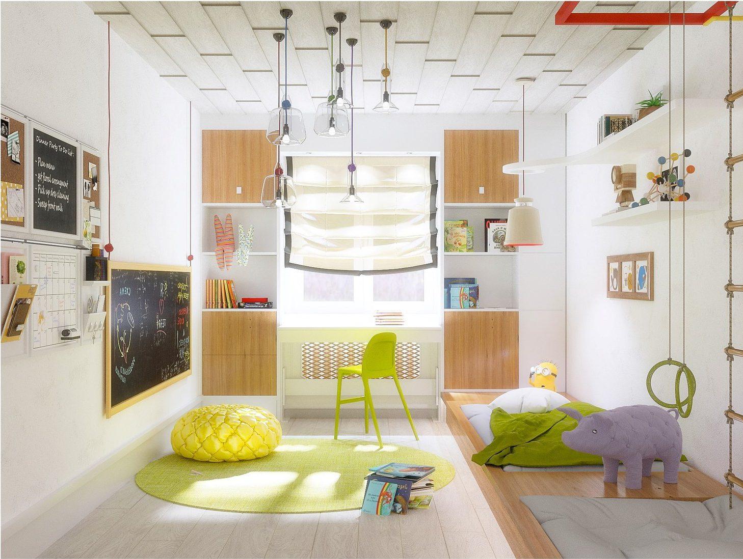 Расширяем пространство узкой детской комнаты