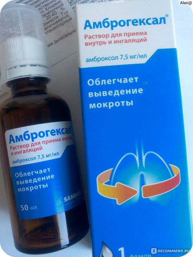 Препарат амброгексал: показания и варианты применения различных форм