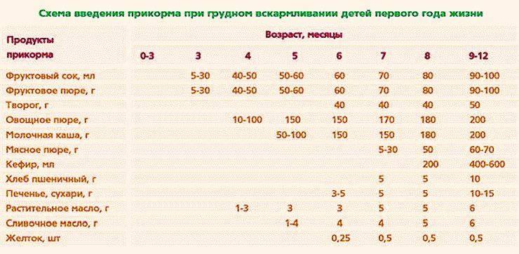 Прикорм кашами: как все сделать правильно (рекомендации+таблица)