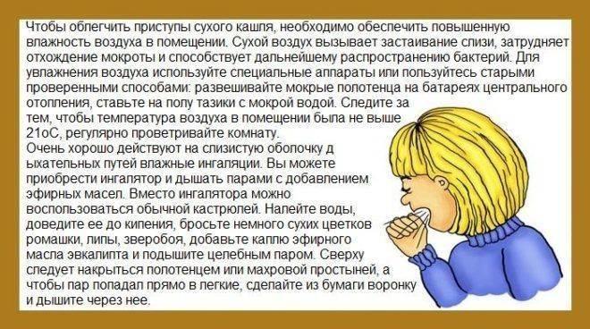 Лечение кашля в начальной стадии у ребенка