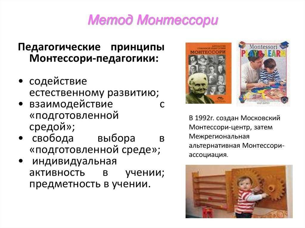 Программа монтессори в детском саду - особенности организации доу на её основе