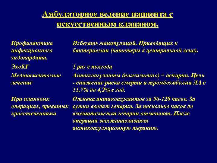 Инфекционный эндокардит – лечение медикаментозное и хирургическое, прогноз и меры профилактики