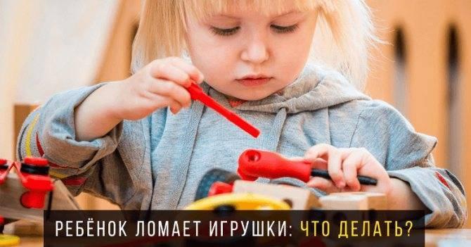 Почему ребенок ломает игрушки и как от этого отучить? | уроки для мам