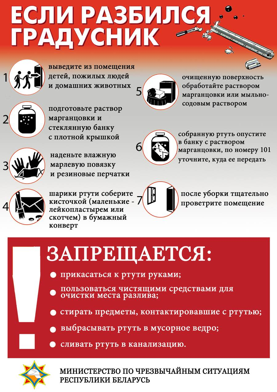 Ребенок разбил градусник: что делать, если малыш порезался стеклом и проглотил ртуть? | konstruktor-diety.ru
