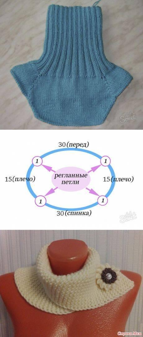 Урок вязания теплой манишки спицами
