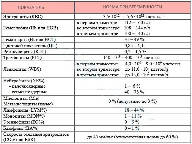 Почему гематокрит понижен при беременности или повышен, его норма в крови
