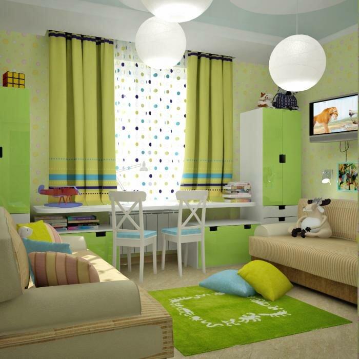 Нюансы в создании интерьера детской комнаты для двоих детей