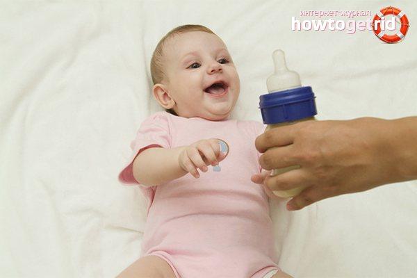 Как отучить ребенка от молочной смеси?