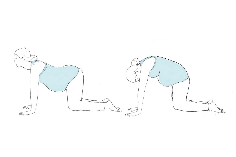 Коленно-локтевое положение при беременности | уроки для мам