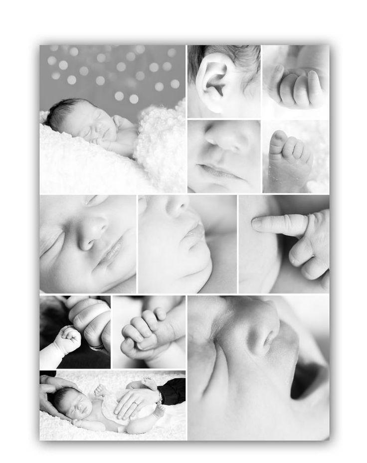 Фотоколлаж новорожденного ребенка самостоятельно за 2 минуты!