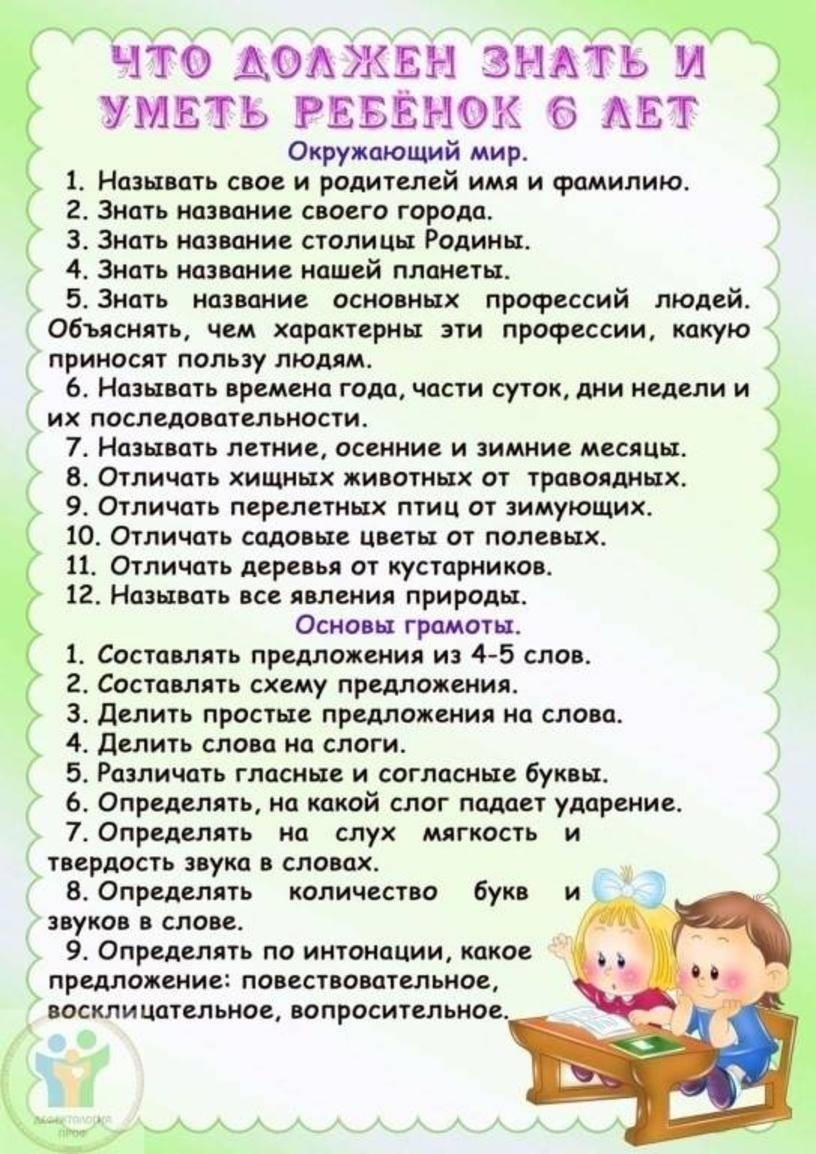 Навыки и умения для детей от 3 до 5 лет