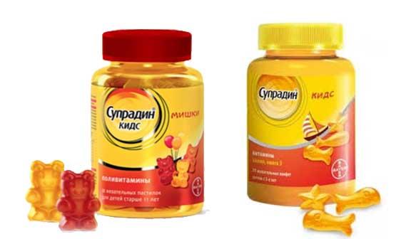 Витамины для детей супрадин кидс мишки – инструкция по применению