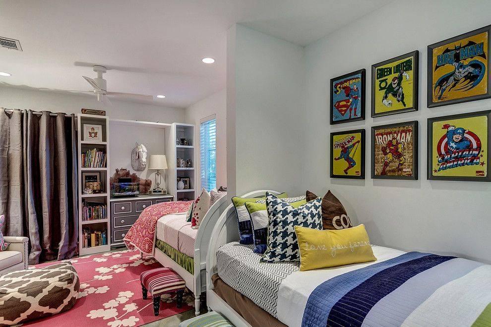 Детская комната для двоих: дизайн интерьера спальни для разнополых детей