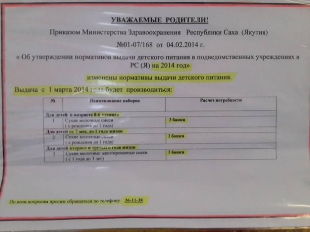 Молочная кухня, что положено москва 2019 таблица московская область. таблицы составов наборов молочной кухни в москве и московской области в 2020 | дачная жизнь