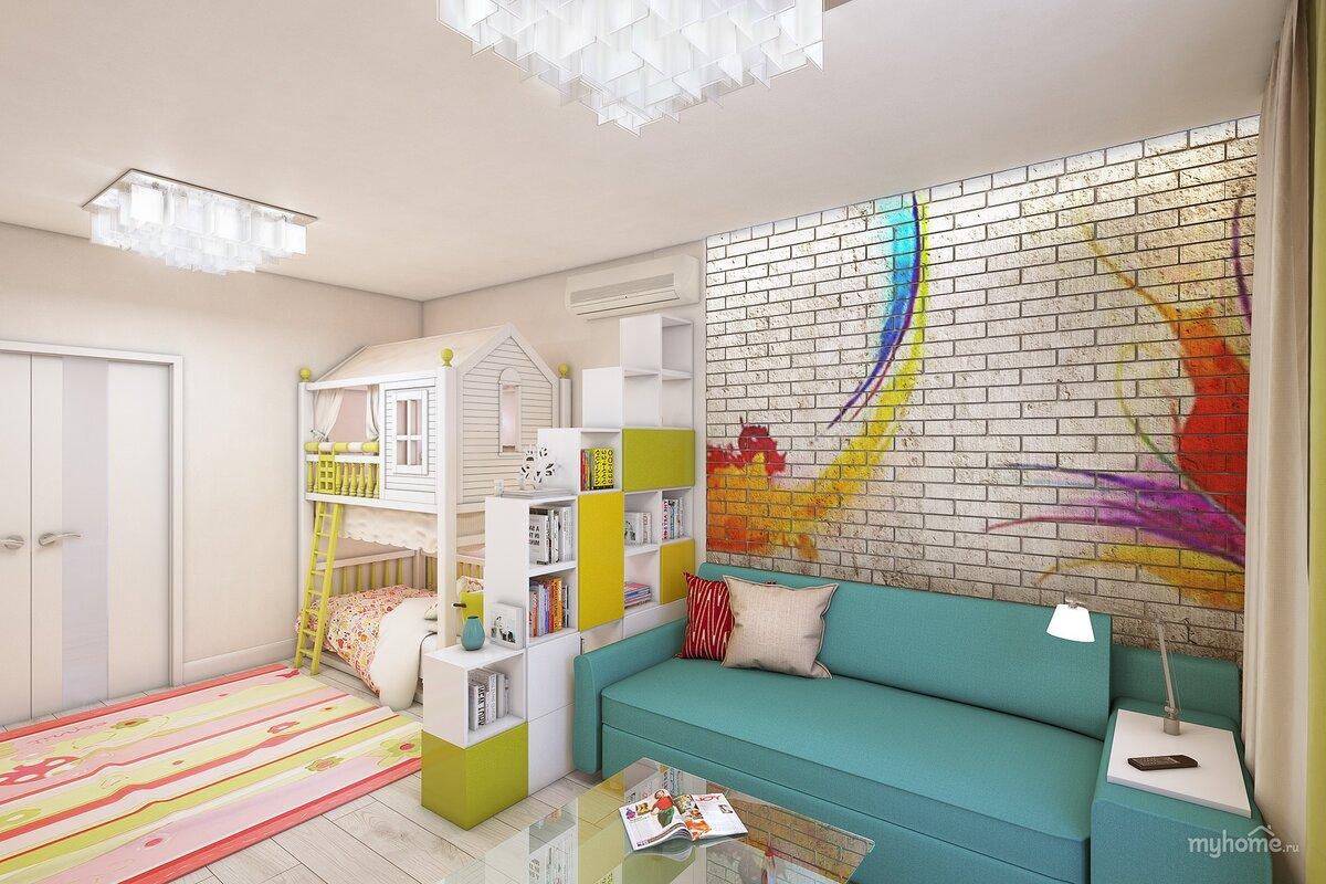 Как обустроить детскую спальню, совмещенную со взрослой в одной комнате или однокомнатной квартире: фото и идеи дизайна