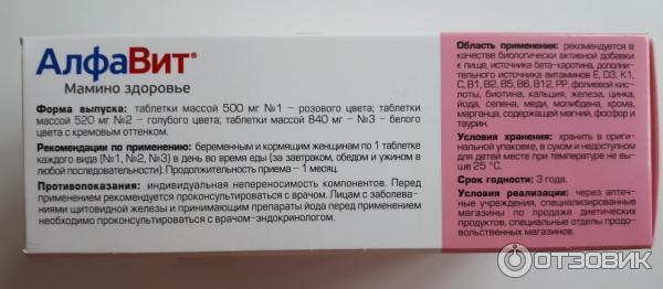 Алфавит мамино здоровье: показания и состав комплекса