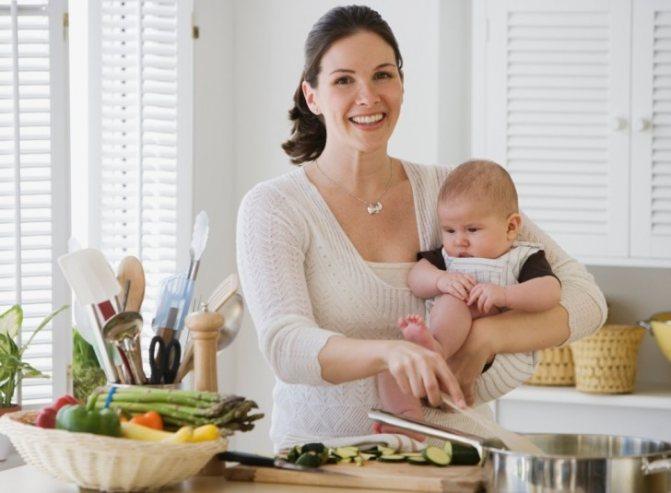 Список продуктов для кормящей мамы в первый месяц