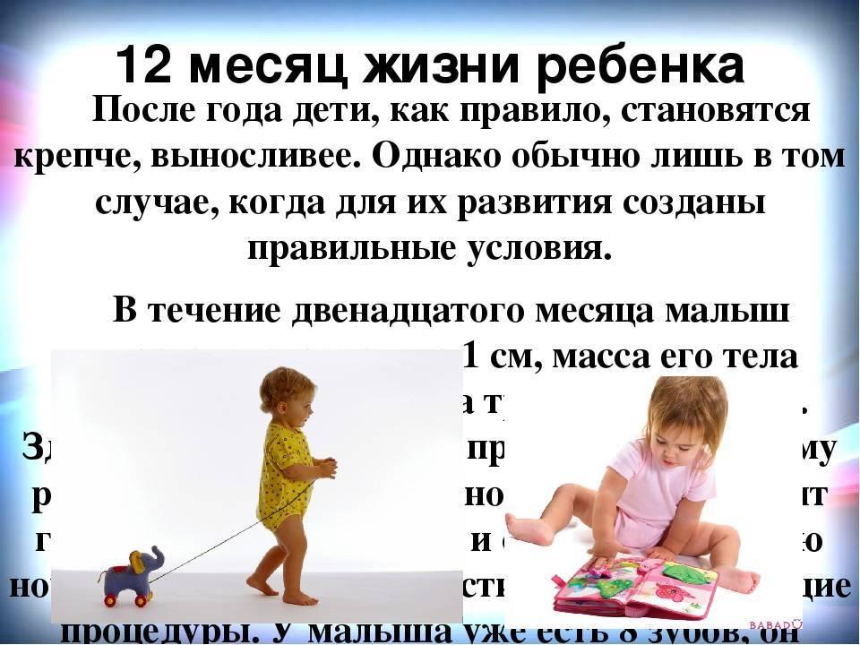 Что должен уметь ребёнок в 12 месяцев?