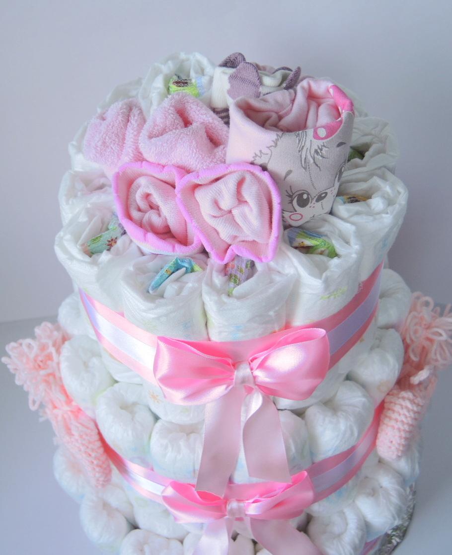 Торт из памперсов - 100 фото изготовления и оформления подарка