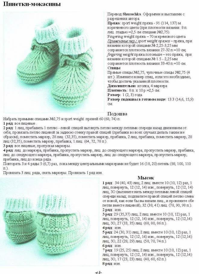 Детские носки 5 спицами для начинающих - женский сайт порадка