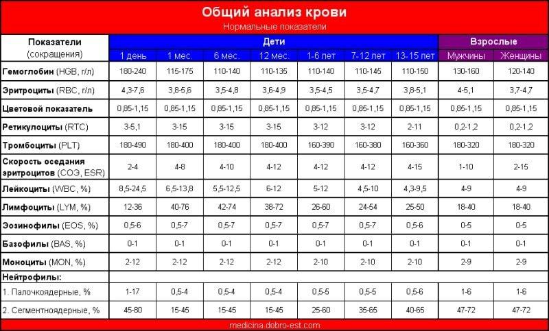 Цветовой показатель крови: обозначение, расшифровка, как рассчитать, повышен, понижен, у ребенка, взрослого